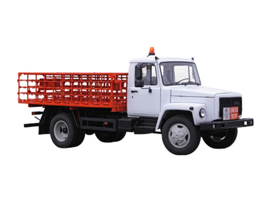 Машина для перевозки балонов со сжиженным газом КТ-602-01