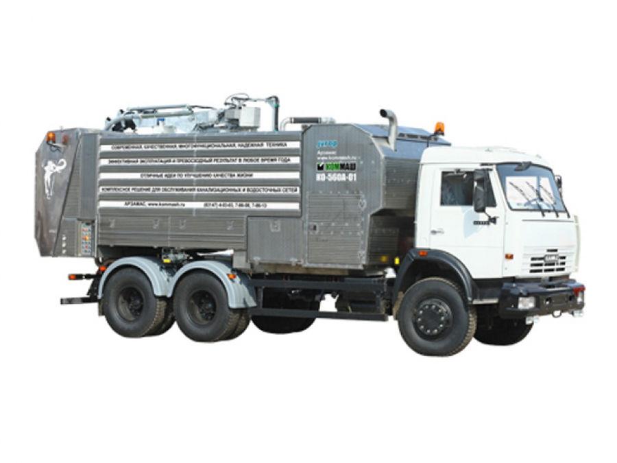 Комбинированная каналопромывочная машина КО-560А-01