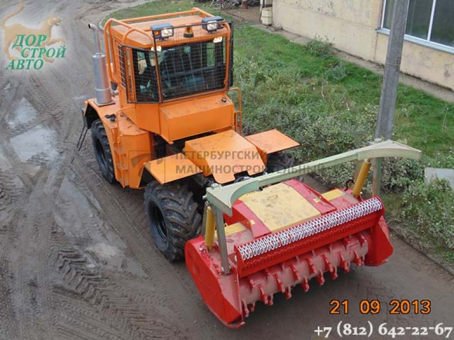 Станислав К-705 с мульчером и дорожной фрезой