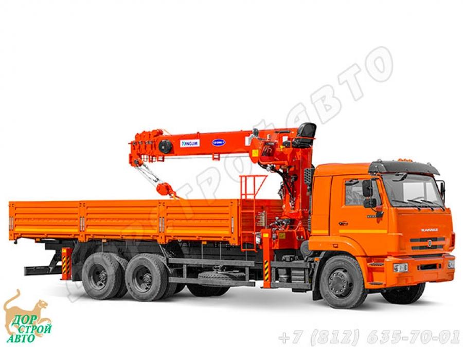 КамАЗ-65117 с КМУ Kanglim KS1256G-II