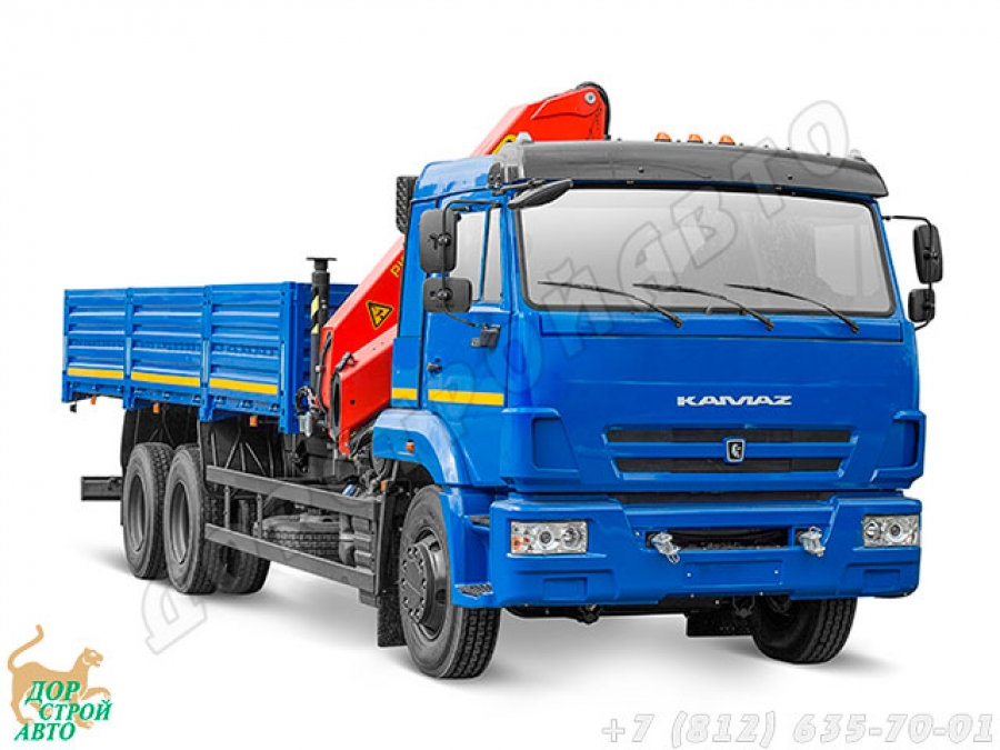 КамАЗ-65117 с КМУ Palfinger PK 15500A