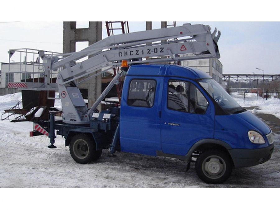 Автоподъемник коленчатый ПМС-212-02 на шасси ГАЗ-33023