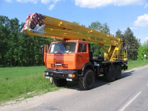 Автоподъемник коленчатый ПМС-328-02 на шасси КАМАЗ-65115