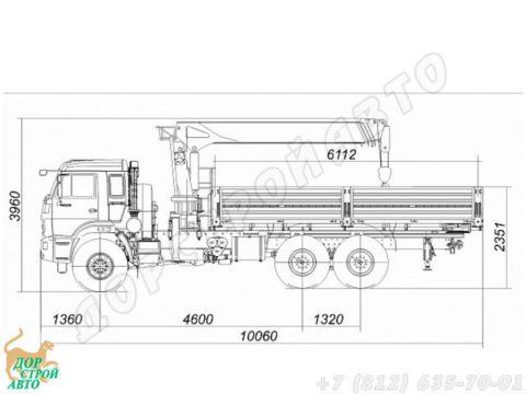 КамАЗ-43118 с КМУ Kanglim KS1256G-II