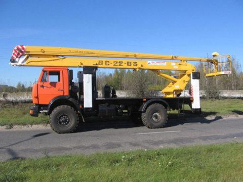 Автоподъемник коленчатый ВС-22-03К на шасси КАМАЗ-43253