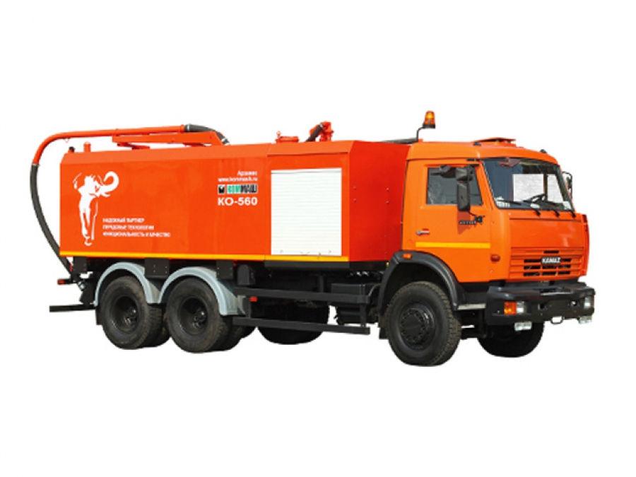 Комбинированная каналопромывочная машина КО-560