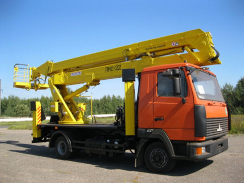 Автоподъемник коленчатый ПМС-22 на шасси МАЗ-437137