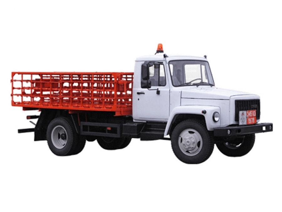 Машина для перевозки баллонов со сжиженным газом КТ-602