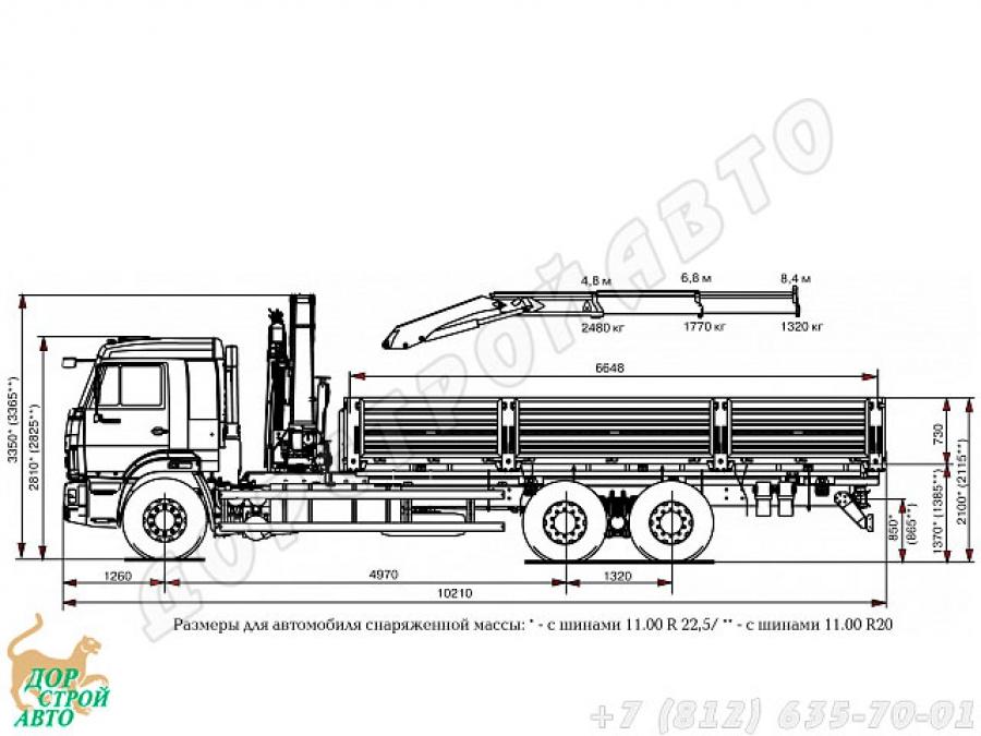 КамАЗ-65117 с КМУ Inman IM-150