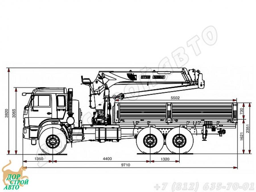 КамАЗ-43118 с манипулятором Inman IT-180
