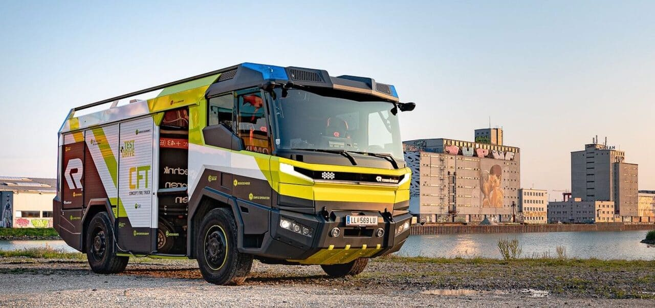 Пожарный электромобиль