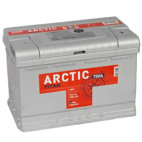 TITAN ARCTIC silver 6СТ 75.0 VL