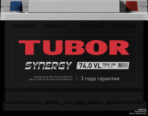 TUBOR SYNERGY 6СТ 74.0 VL (низкая)