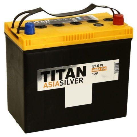 TITAN ASIASILVER 6СТ 57.0 VL B00