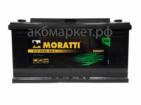 MORATTI energy 95Ah 105D31R п/п